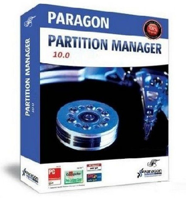 Paragon Partition Manager 2010 build 9095 Free Edition.