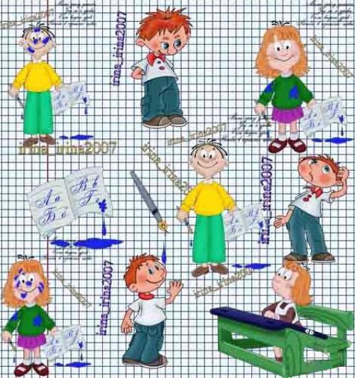 Отрисовки для PhotoShop - Ученики