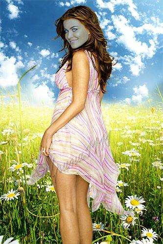 Женский шаблон для Photoshop - Ромашковое поле