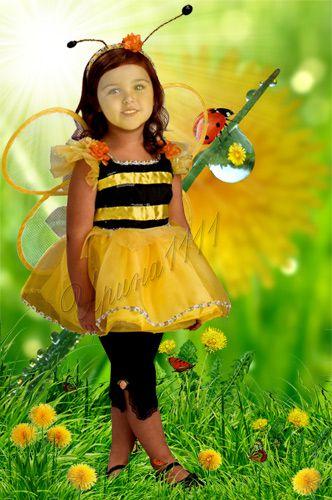 Детский шаблон для фотошоп - Пчелка