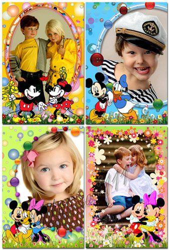 Детские рамки для фотошоп - Кружочки