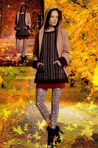 Женский шаблон для Photoshop - Дорога в осень