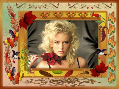 Рамка для фотошоп-Осенние мотивы