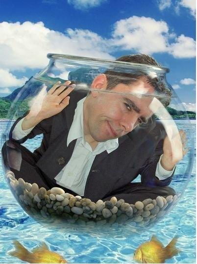 Шаблон для Photoshop - виртуальный костюм АКВАРИУМ