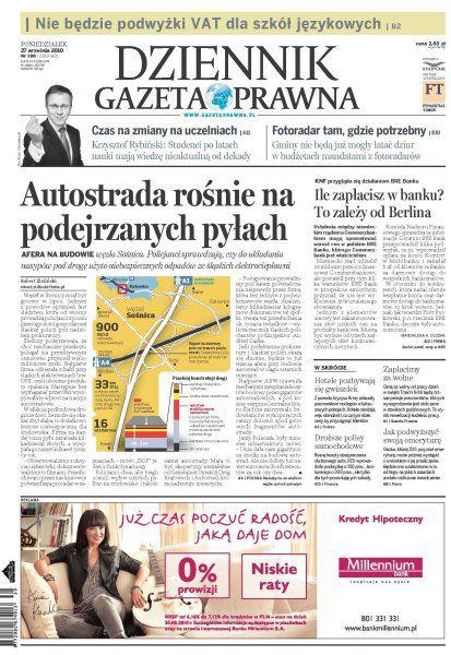 Dziennik Gazeta Prawna (188)27.09.2010 - poniedziałek