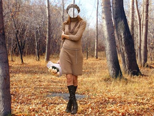 """женский шаблон для фотошоп :Осенний блюз-""""Леди осень""""."""