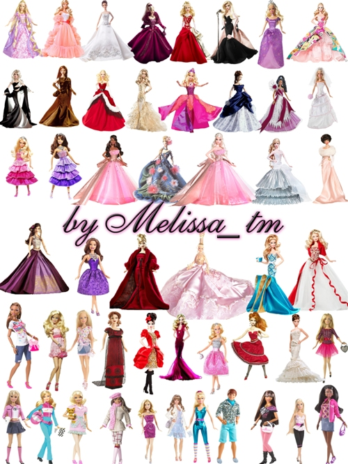 Clipart - Barbie Dolls