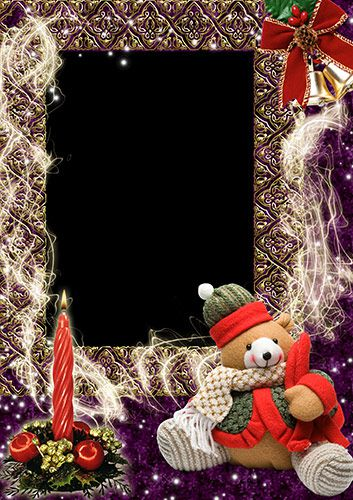 Frame for Photoshop Christmas Romance Format PSD Resolution 2480x3508