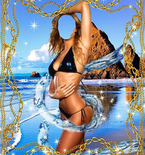 Женский шаблон – В окружении воды