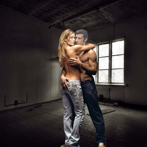 Шаблон для фотошопа: Любовники.