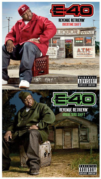 E-40 – Revenue Retrievin': Overtime Shift & Graveyard Shift (Album Cover +