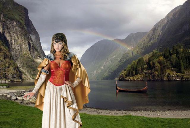 Шаблон для фотошопа - Королева викингов