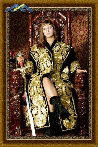 Женский шаблон для фотомонтажа Королева воинов