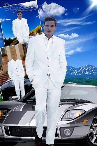 Мужской шаблон для Photoshop - Путешетвенник