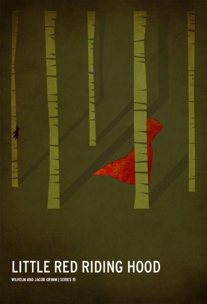 Минималистские постеры к сказкам