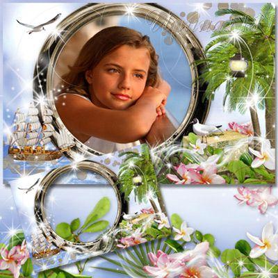 Рамка для фотошопа - Карибские острова