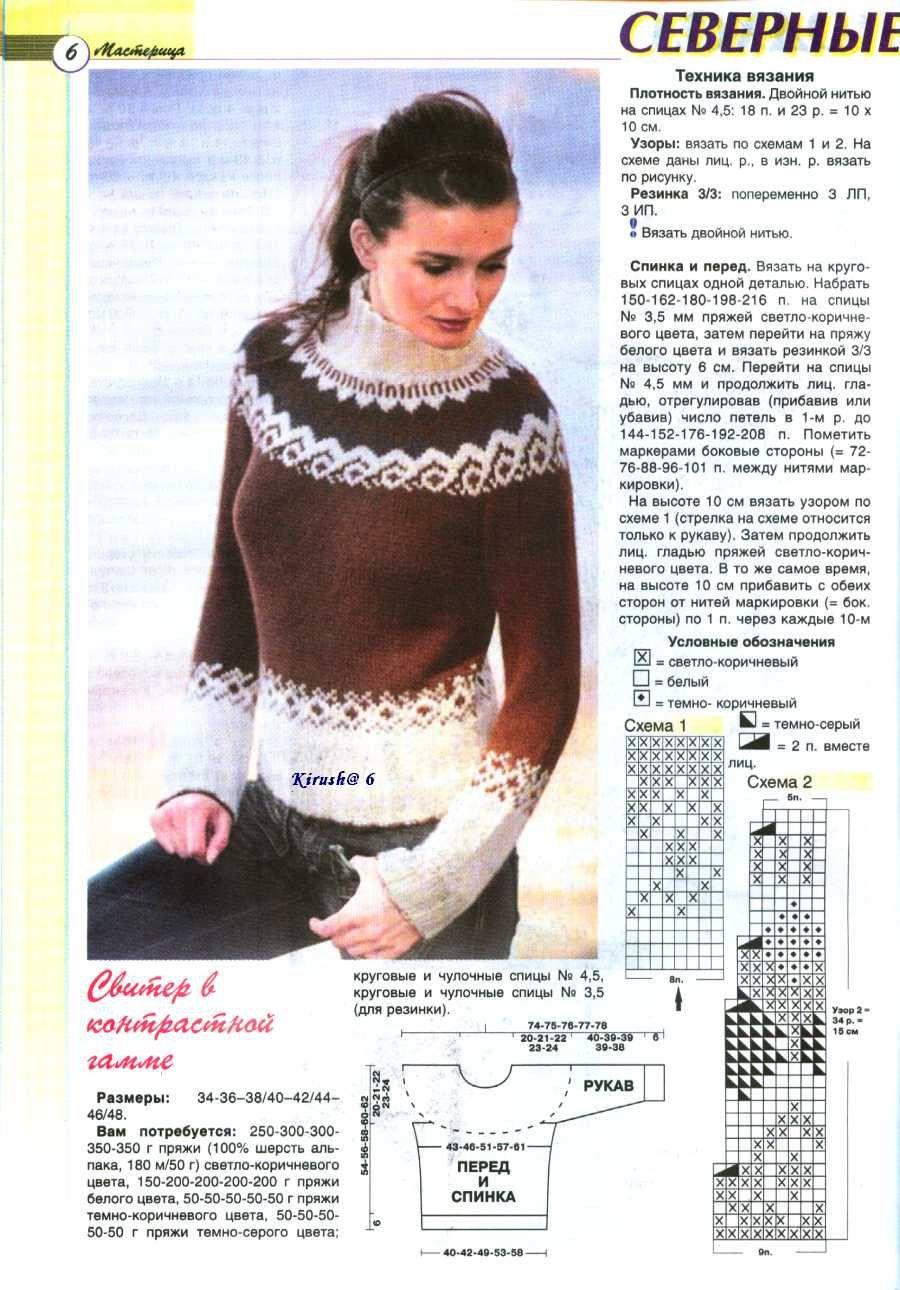 Фото и схемы вязания свитеров
