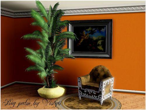 Вазы с цветами и пальма от visty 6