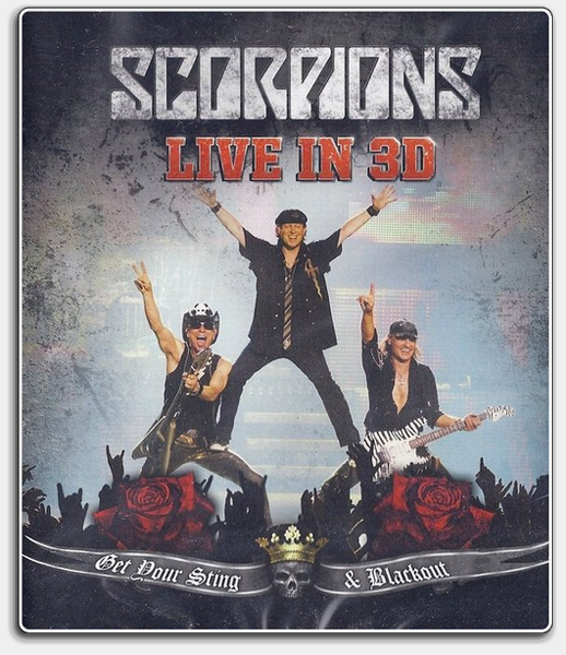 Scorpions: Live - Get Your Sting & Blackout 3D / 3Д [2011 г., Музыка, Rock, Hard Rock, BDRip 1080p] Half OverUnder / Вертикальная анаморфная стереопара