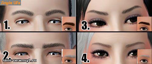 Глаза, линзы, брови для Sims 3 84b90de33737713a4c90a24e015b9f98