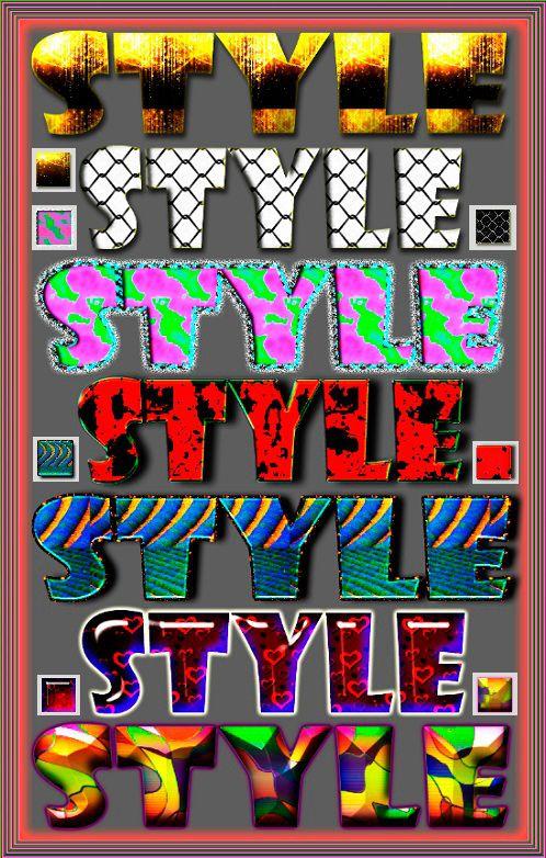 Яркие стили для Photoshop