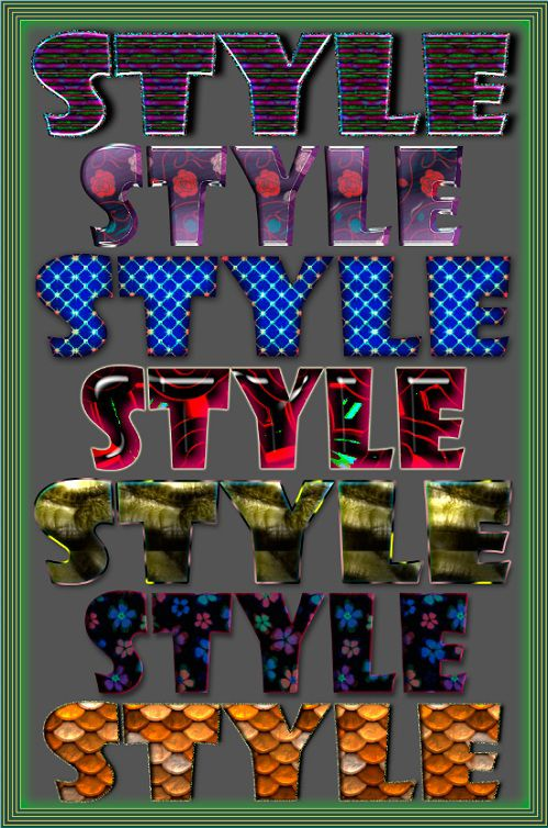 Original styles for Photoshop