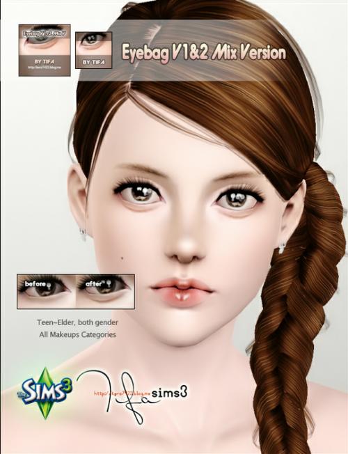 Симс 3 макияж