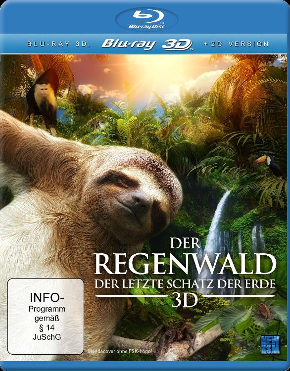 Скрытая жизнь дождевого леса 3Д / The Secret Life of the Rainforest 3D (2011) [BDrip-AVC, Half OverUnder / Вертикальная анаморфная стереопара]
