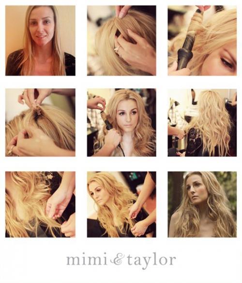 Как сделать красивые кудри плойкой на средние волосы
