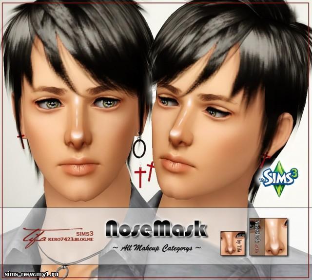 Коррекция носа прической