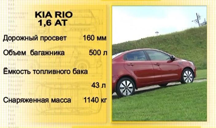 Авто плюс - Наши тесты / Kia Rio 1.6AT (Эфир 23.08.2012)