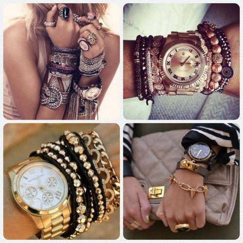 Крупный браслет с чем носить