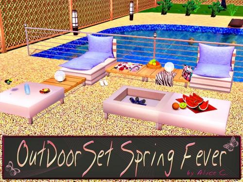Сет мебели для дворика OutDoorSet Spring Fever от Alice C.