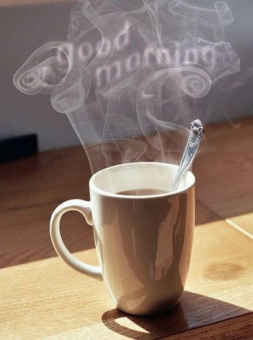 фото с добрым утром с кофе и