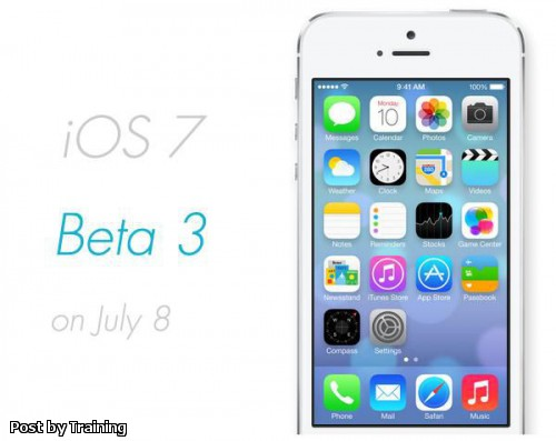 Apple iOS 7 Beta 3 for iPhone 5