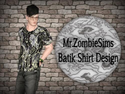 Batik Shirt Design by Mrzombiesims