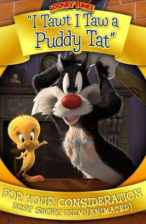 Безумные мелодии: Кажется я видел котика / Looney Tunes: I Tawt I Taw а Puddy Tat (Мэттью ОКаллаган / Matthew OCallaghan) [2011, короткометражный анимационныйфильм, BDRemux 1080p] DUB + ENG + SUB (rus, eng)