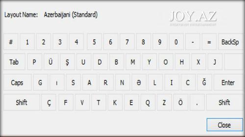 Azərbaycanın milli klaviaturası