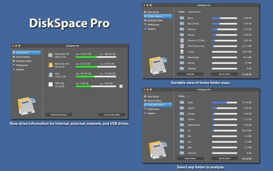 DiskSpace Pro v1.8 Mac OS X