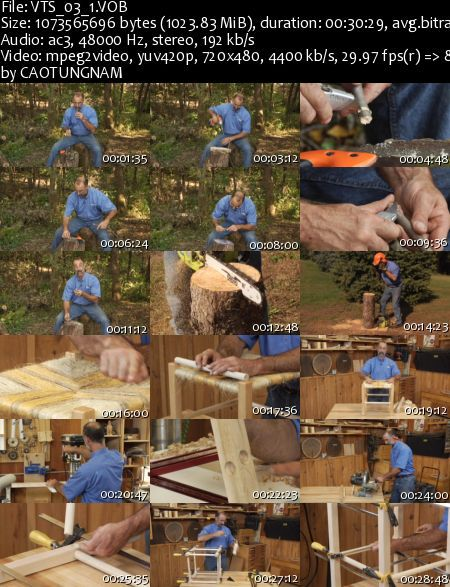 Woodworkers Guild of America - Easy projects with native materials DVD