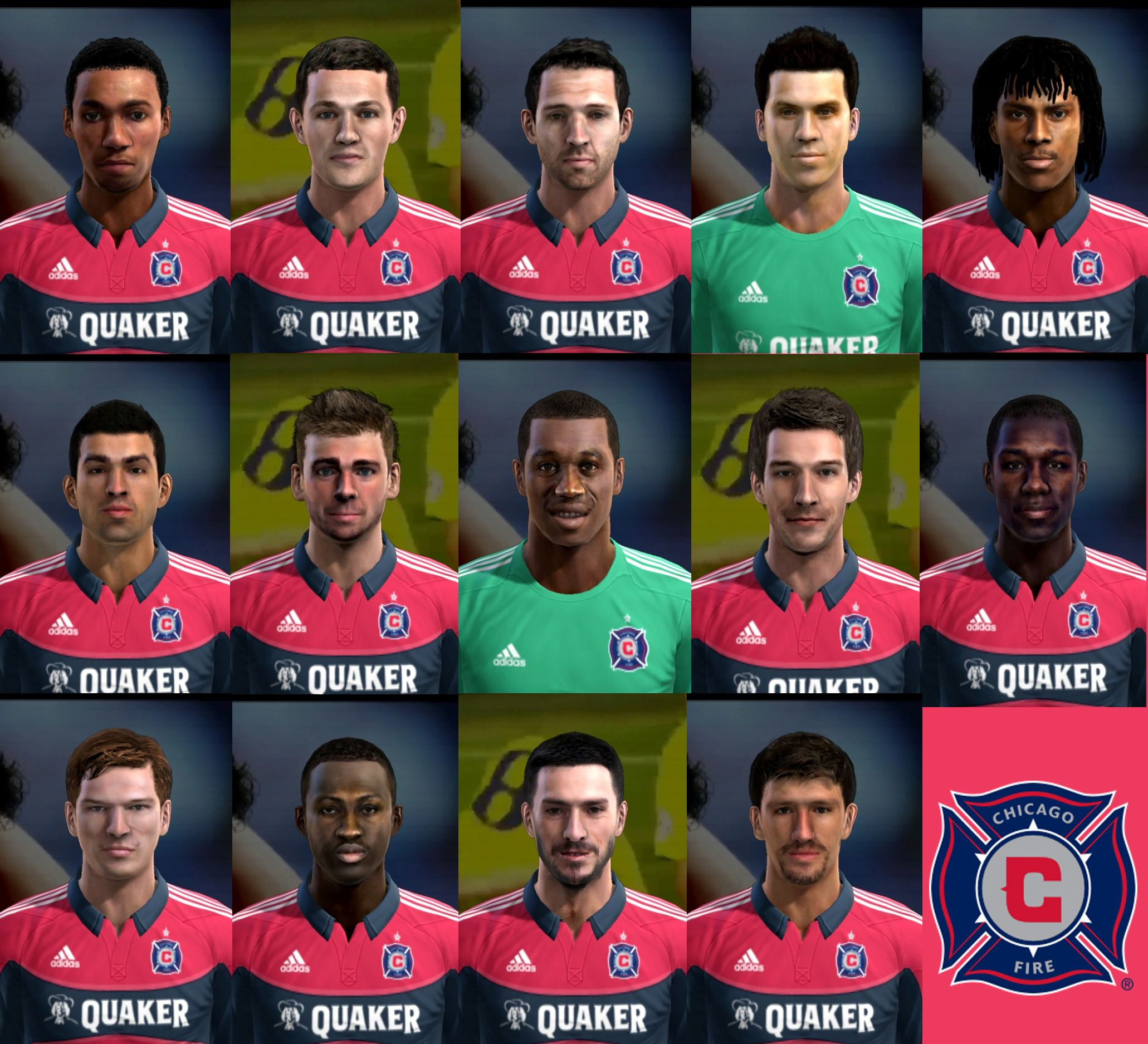 PES 2013 Chicago Fire Facepack by cirkac-95
