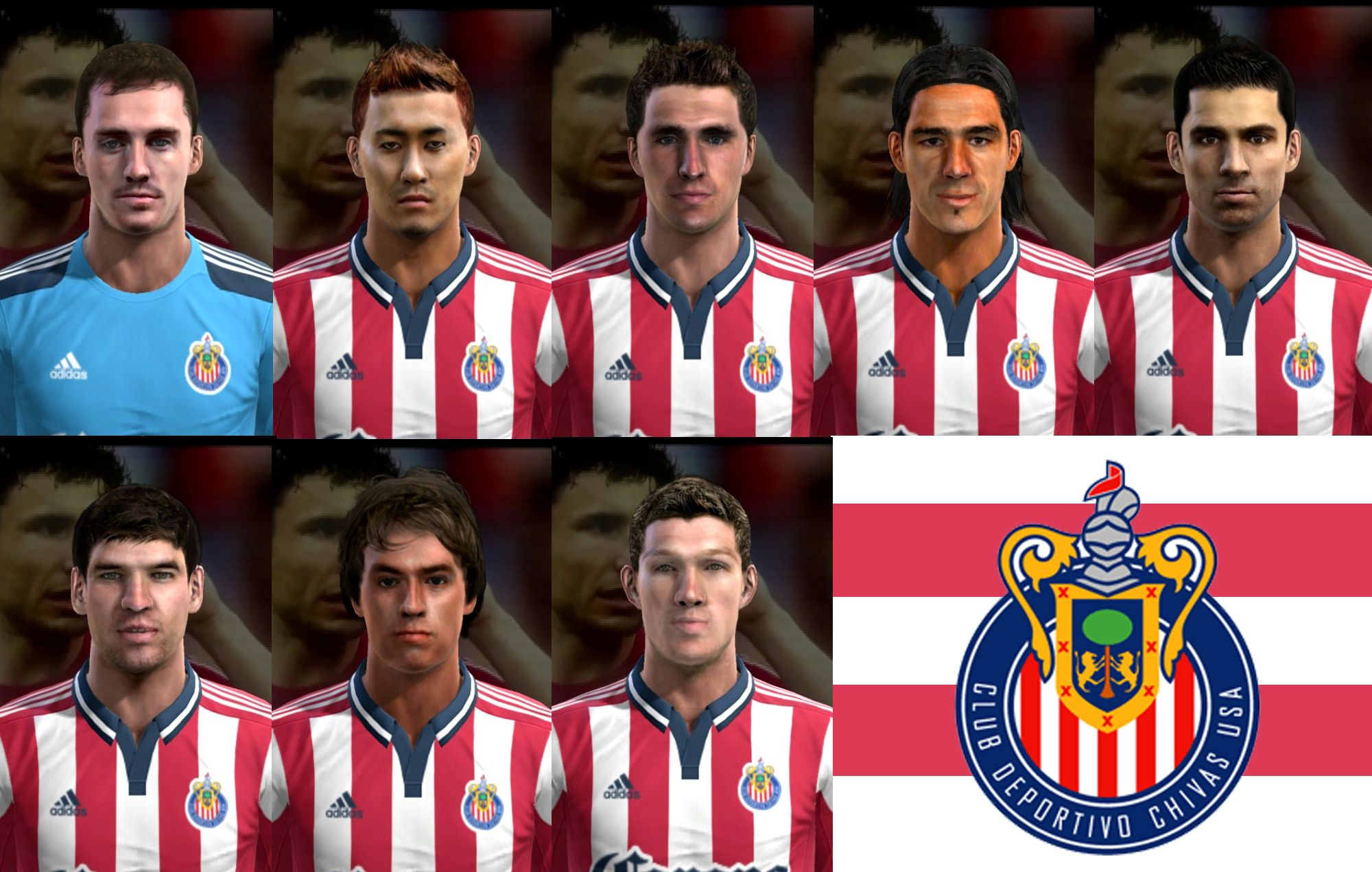 PES 2013 Chivas USA Facepack by cirkac-95