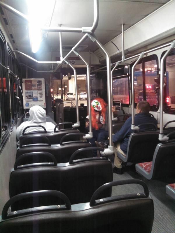 Крипота в автобусе 1