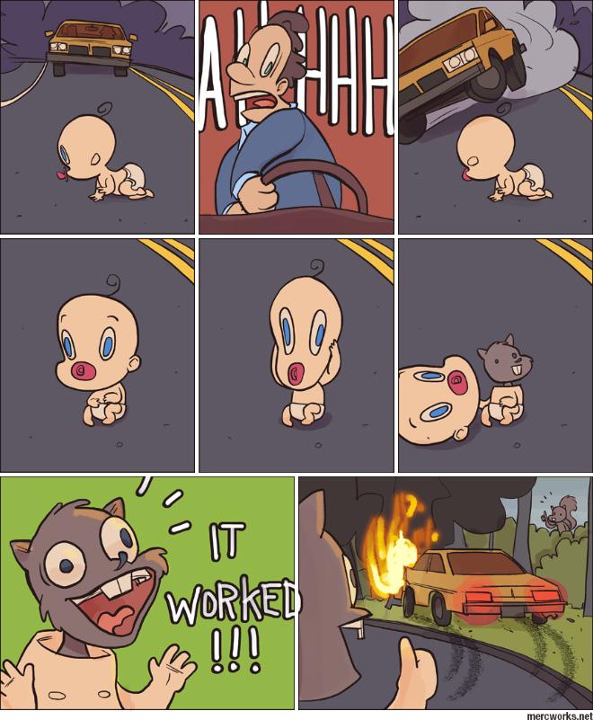 Младенец на прогулке 1