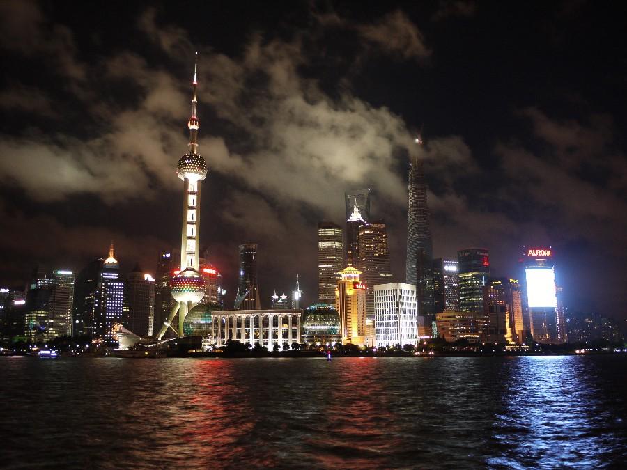 Ночной вид на Шанхай