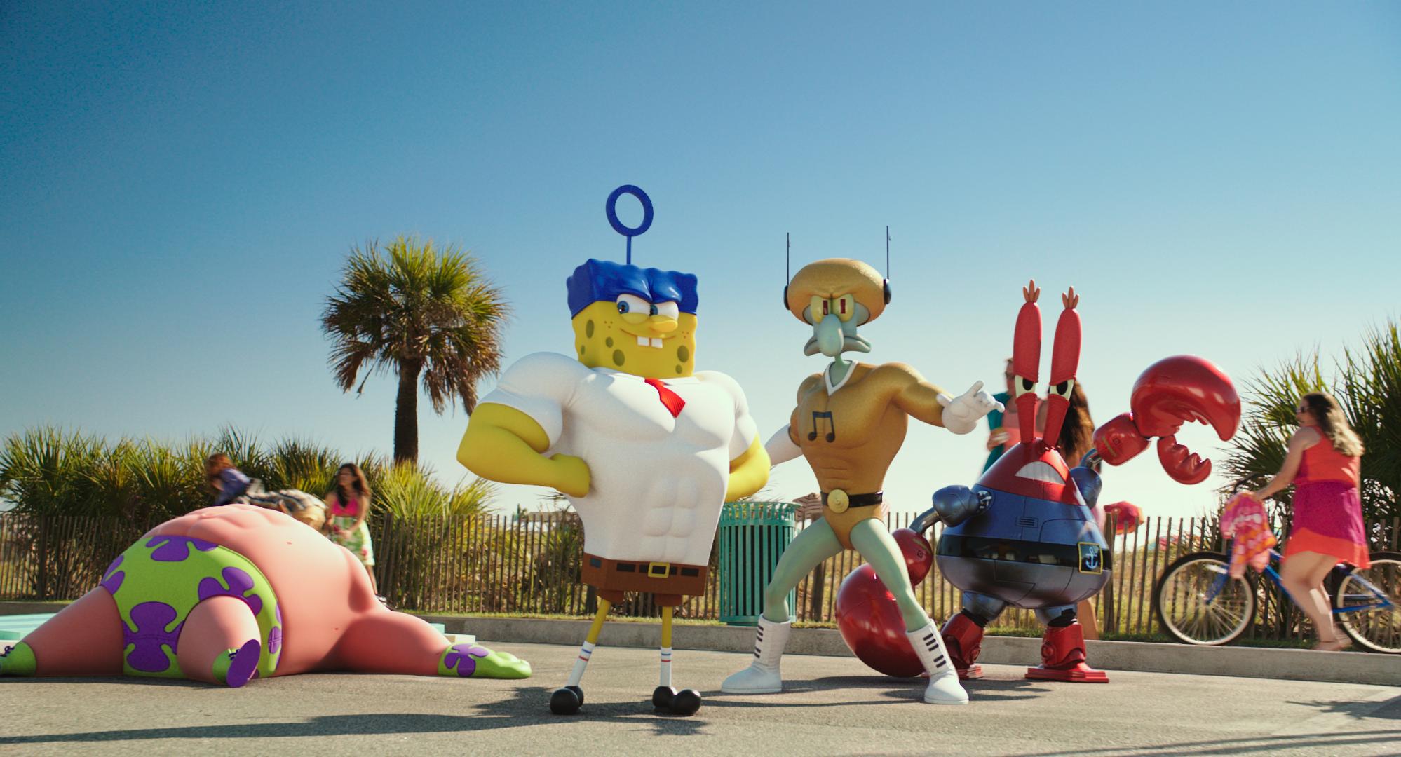 ����� ��� � 3D / The SpongeBob Movie: Sponge Out of Water (2015) DVDRip
