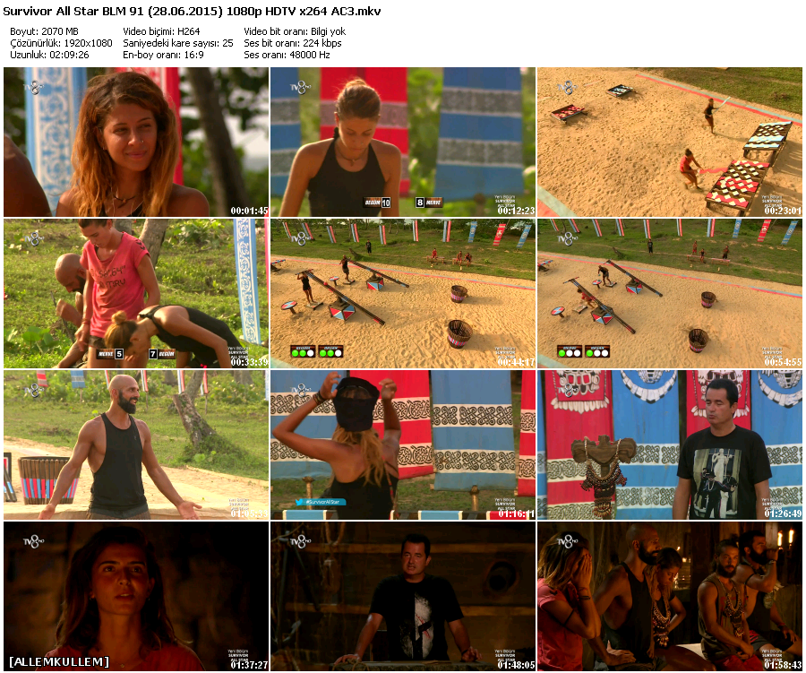Survivor All Star 91.Bölüm (28.06.2015) 1080p HDTV x264 AC3