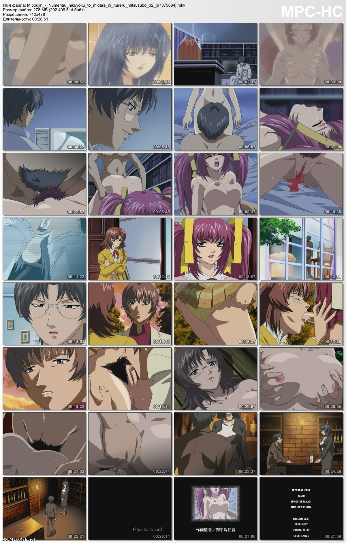 Miboujin: Numeriau Nikuyoku to Midara ni Nureru Mitsusubo / Widow / Вдова [2 из 2] [JAP,ENG,RUS] Anime Hentai