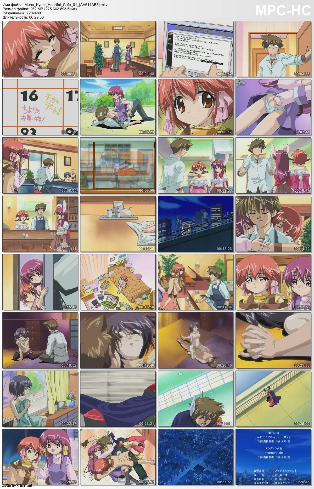 Mune Kyun! Heartful Cafe / Душевное кафе [2 из 2] [RUS,ENG,JAP] Anime Hentai