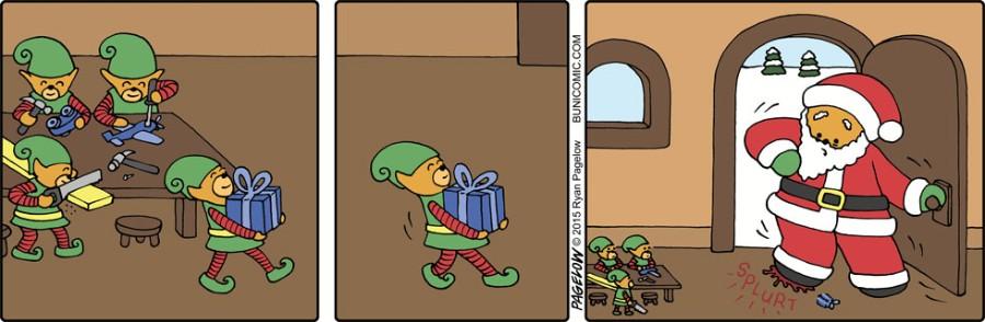Санта и эльфы